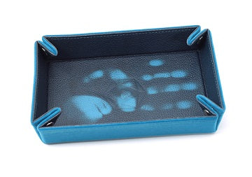 Table Armor Folding Dice Tray (Rectangle) Thermic Teal w/ Teal Velvet