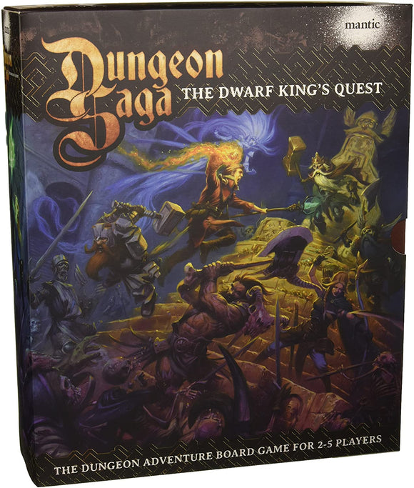 Dungeon Saga The Dwarf Kings Quest - Fantasy 28mm Miniature Adventure Strategy Board Game