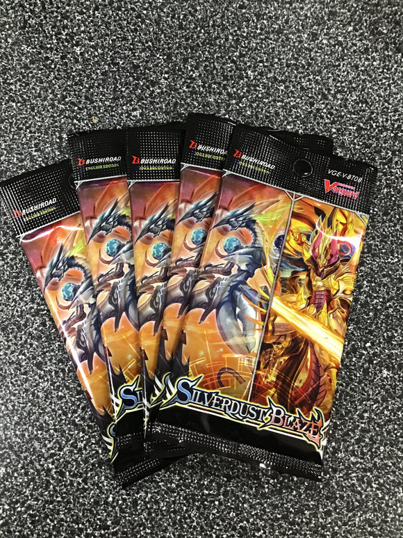 Cardfight Vanguard V: Silverdust Blaze Booster Pack - set 8