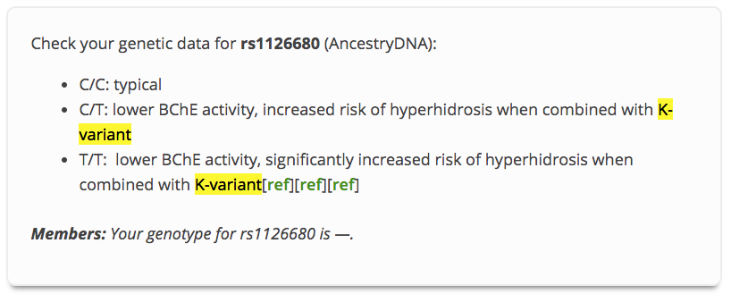 BCHe genes appear to play a role in hyperhidrosis.