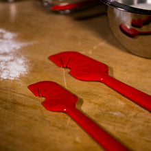 Load image into Gallery viewer, Edge Design's Large Red SWIP Spatula with Small SWIP Spatula
