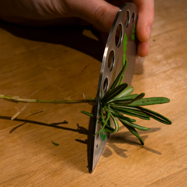 Edge Design's Herb Stripper removing easily herbs from stem