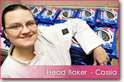 Head Baker Cassia with a large order of Oreos