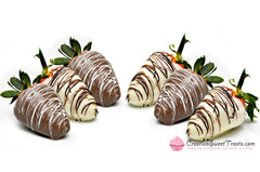 6 Chocolate Covered & Drizzled Strawberries