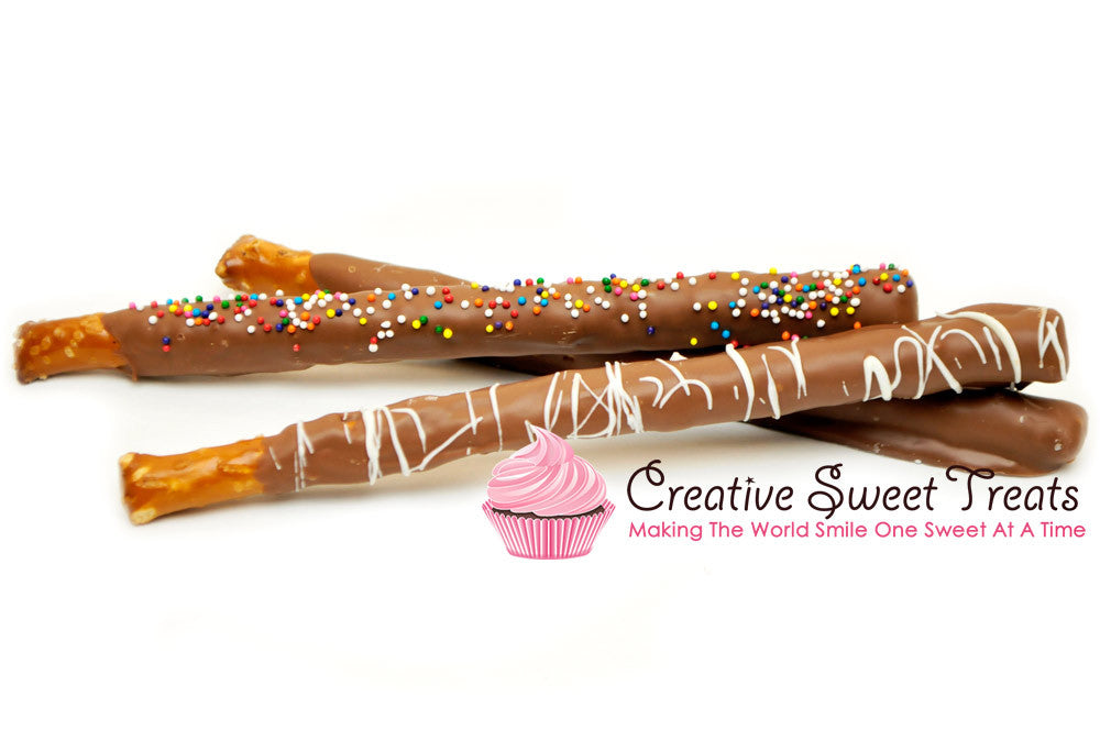 Chocolate Dipped Pretzel Rods Delivered - Assorted