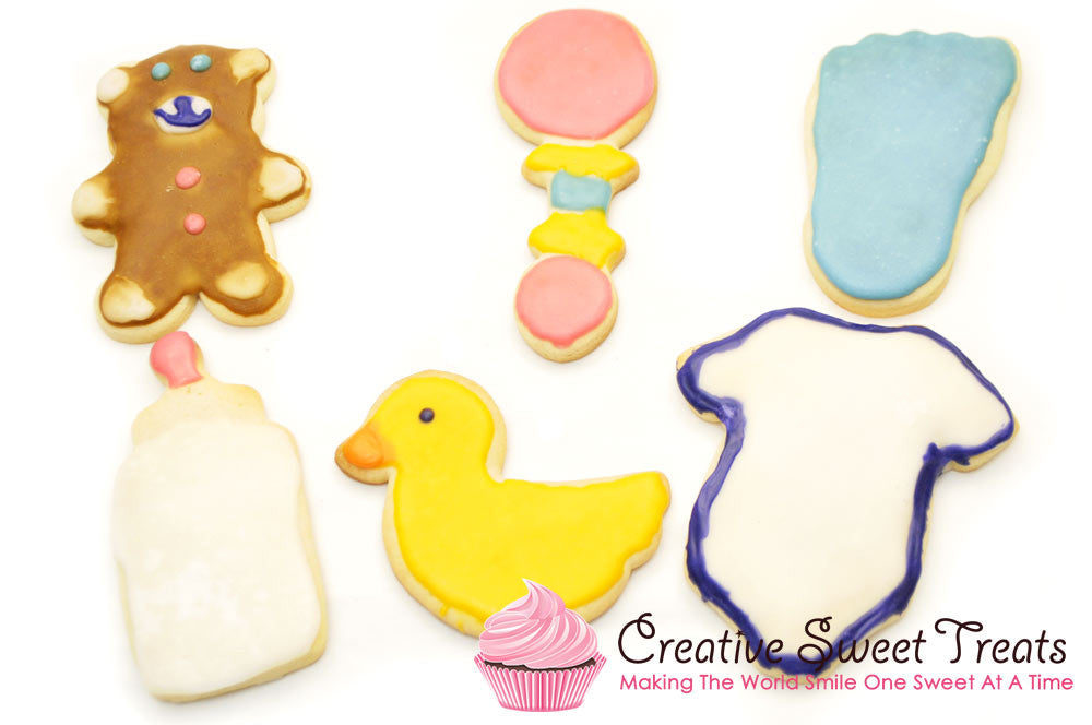 Baby Shower Sugar Cookies Delivered
