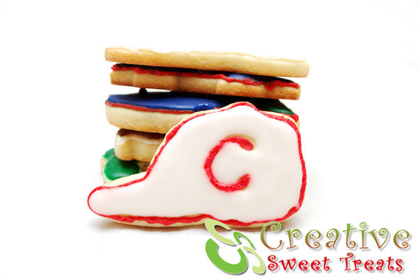 Baseball Hat Shaped Sugar Cookies Delivered