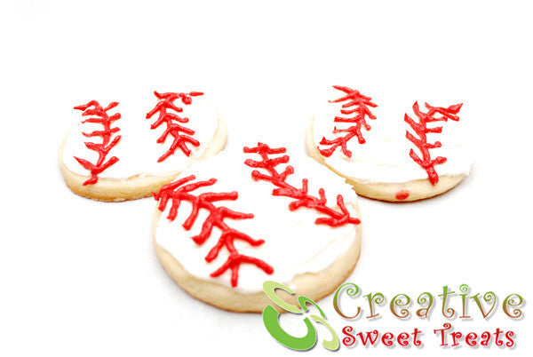 Baseball Shaped Sugar Cookies Delivered