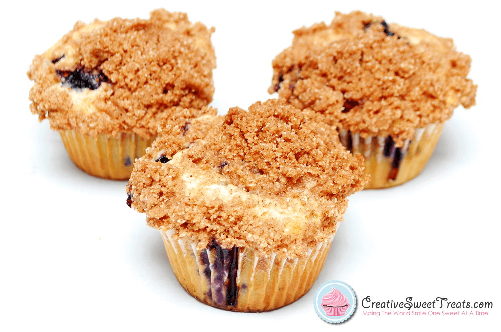 Blueberry Muffins With Crumb Topping Delivered