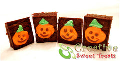 Brownies With Pumpkins