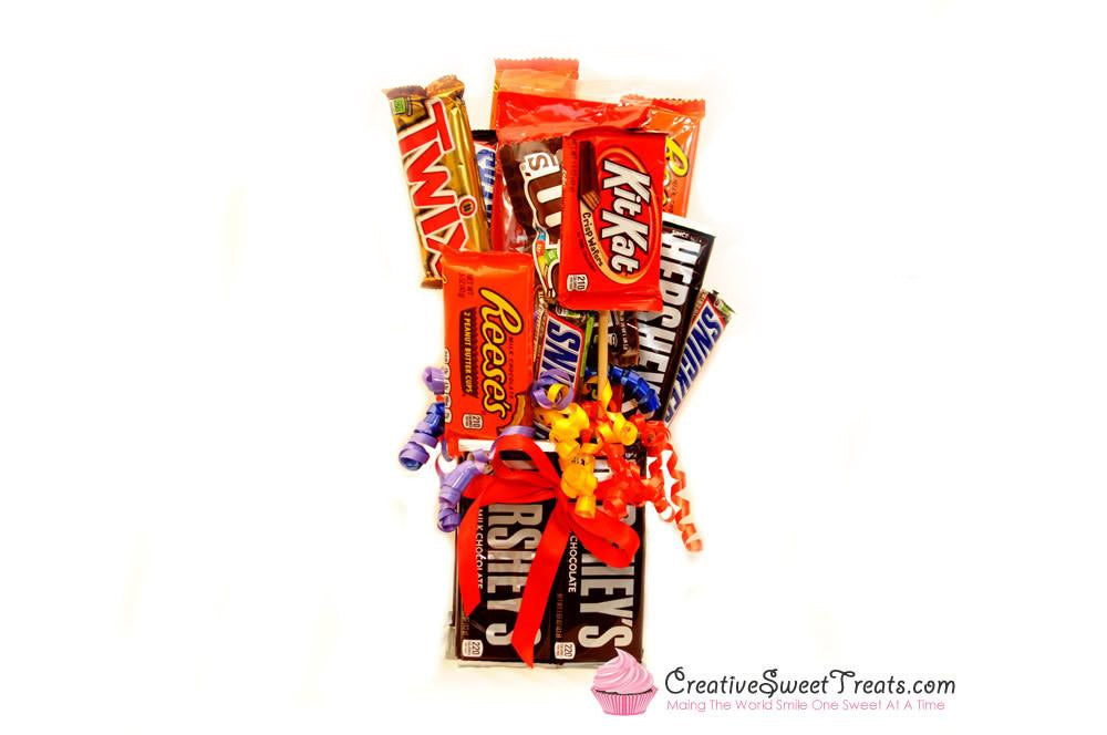 Customized Candy Bouquet 20 Full Size Candies Shipped Nationwide Creative Sweet Treatss
