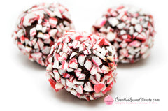 Peppermint Candy Cane Covered Truffles Delivered
