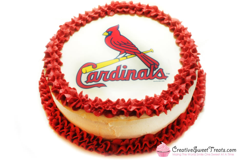 Pleasing Cardinals Baseball Cake Delivered In St Louis Mo Creative Funny Birthday Cards Online Fluifree Goldxyz