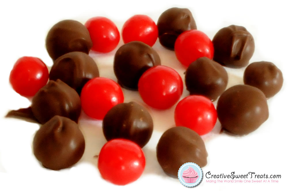 Chocolate Dipped Chewy Sour Cherry Candy Balls Delivered