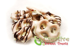 Mini Chocolate Dipped Pretzels Delivered