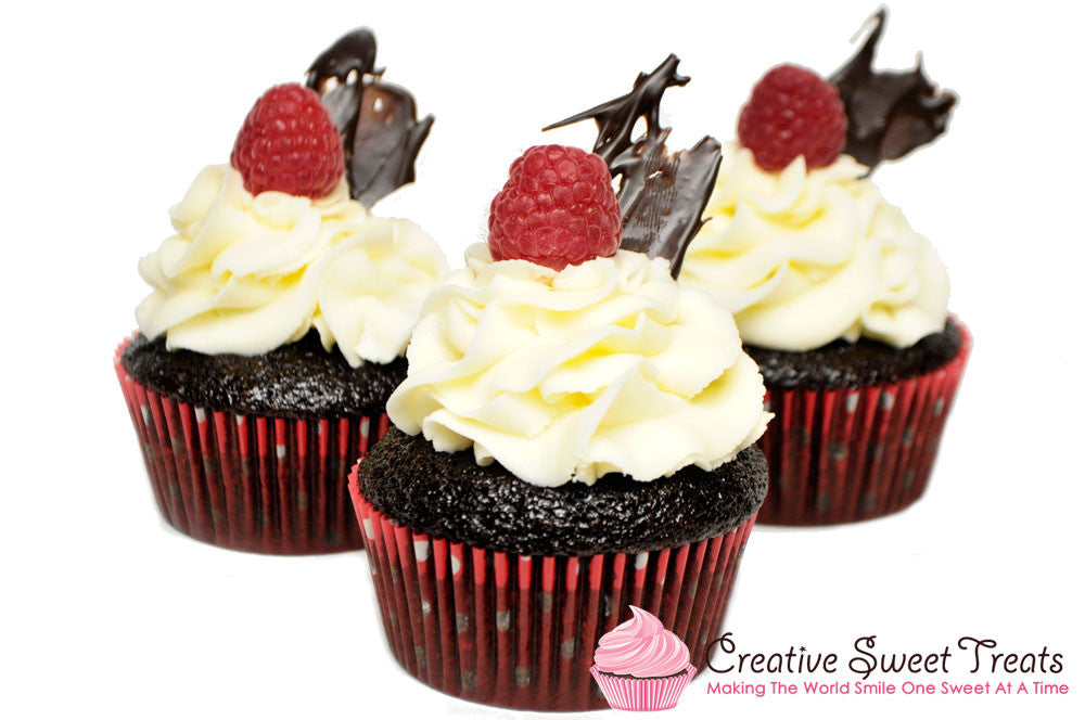 Chocolate Raspberry Cupcakes Delivered In St Louis MO Creative