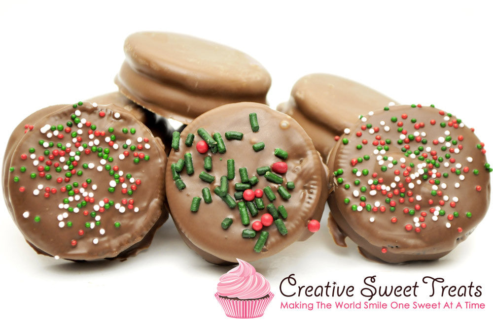 Christmas Chocolate Dipped Oreos Delivered