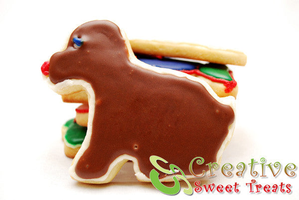 Dog Shaped Sugar Cookies Delivered