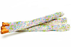 Mardi Gras Pretzel Rods Dipped In White Chocolate Delivery