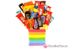 Custom Mini Candy Bouquet - 26 Fun Size & 2 Big Movie Size Candy Boxes