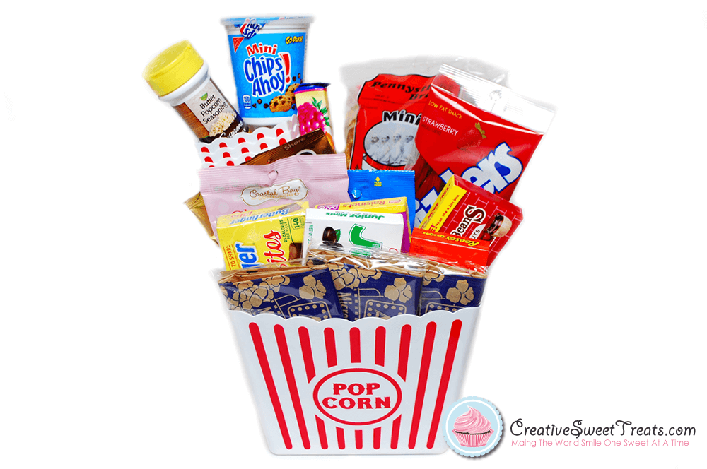 Movie Themed Junk Food Treat Gift Basket