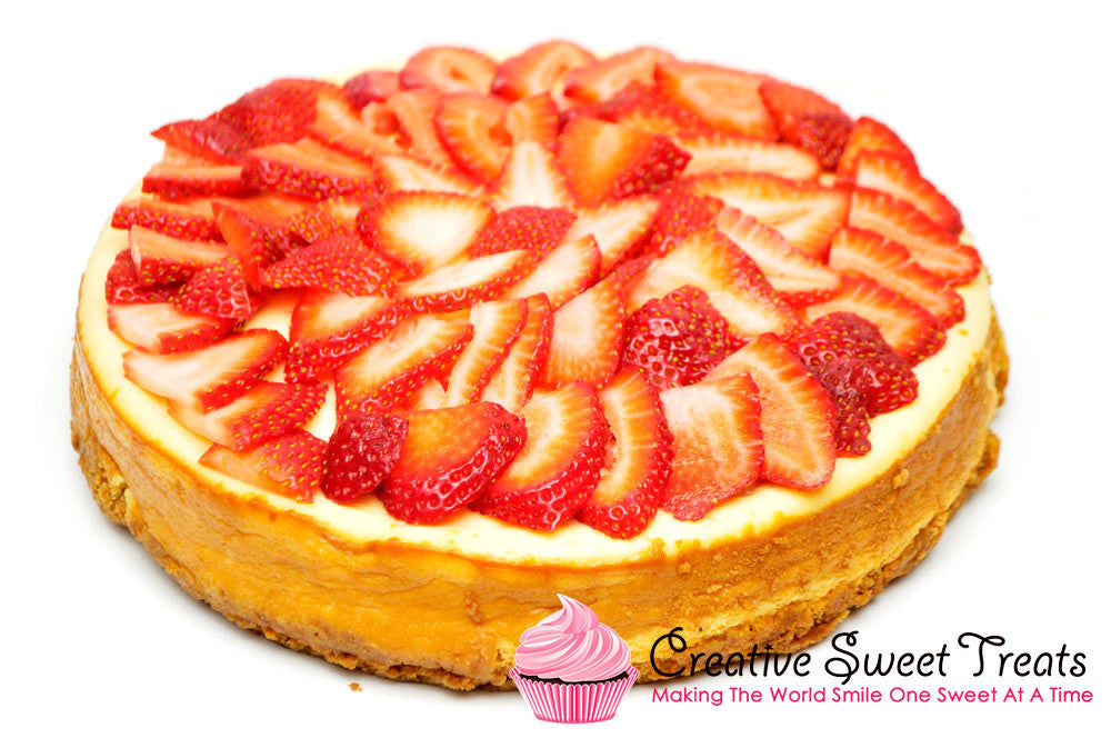 New York Cheesecake with Fresh Strawberries