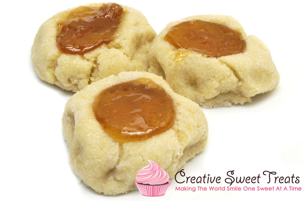 Peach Jam Thumbprint Cookies Delivered