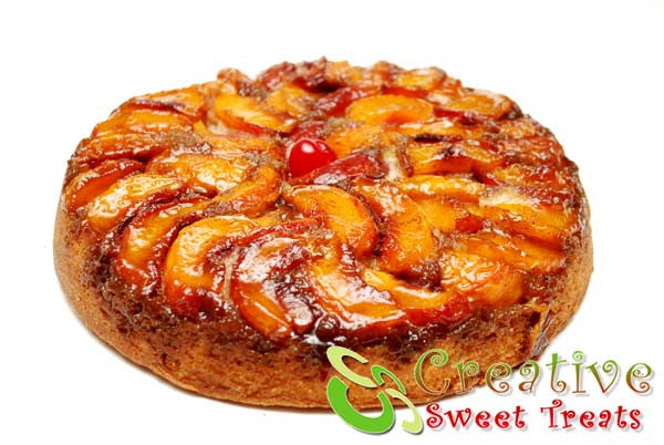 Peach Upside Down Cake Delivered