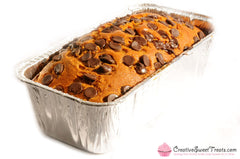 Pumpkin Bread Topped with Chocolate Chips