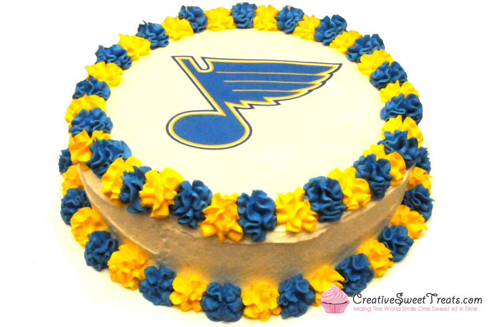 St. Louis Blues Hockey Cake