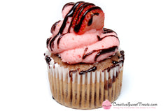 Strawberry Cupcake with Strawberry Buttercream