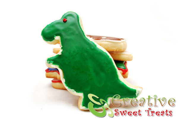 T-Rex Shaped Sugar Cookies Delivered