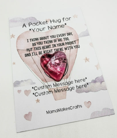 A pocket hug - Personalised Heart Gift