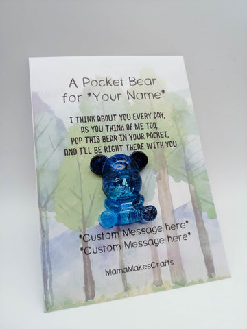 A pocket bear - Personalised Gift
