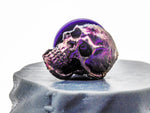 Skull Needle Minder - Duo-chrome skull for sewing, embroidery and cross-stitch