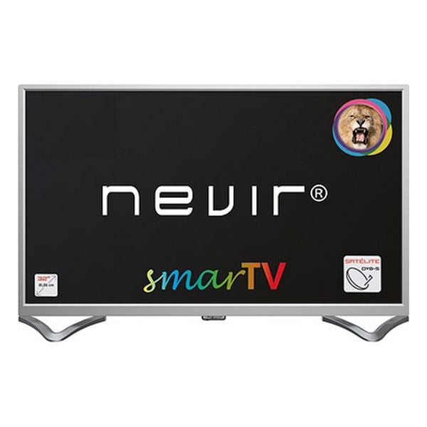 "Smart TV NEVIR NVR-8050-32RD2S-SMAP 32"" HD Ready LED LAN Silberfarben"