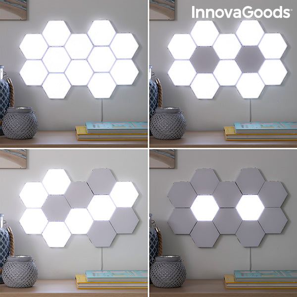 modulares LED-Magnet- und Touchpanel-Set Tilight InnovaGoods (3Er pack)