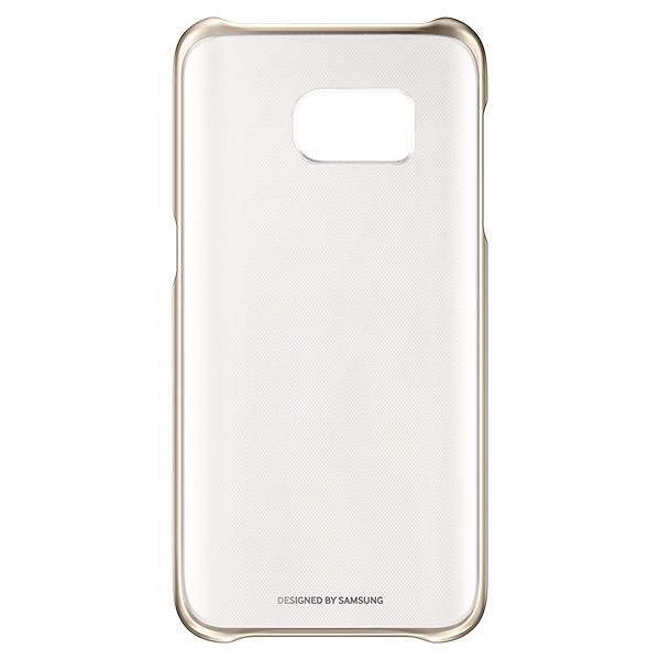 "Handyhülle Samsung Clear Cover EF-QG935 5.1"" Golden"