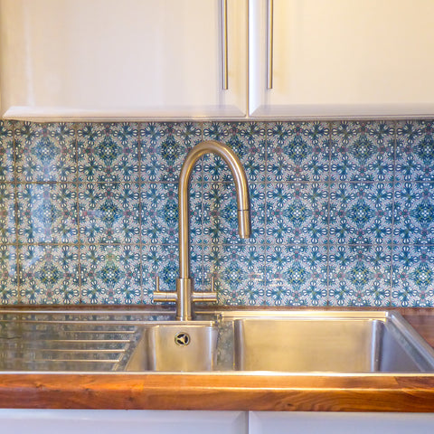 Flourishing garden tile - small scale - sink splashback
