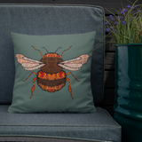 Bumble Bee cushion on chair