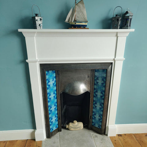 Lovely tiled fireplace!