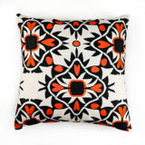 Aztec Orange Black Cushion