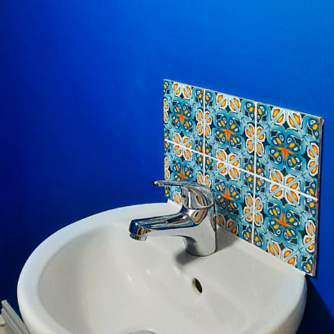 Cloakroom Sink with Alhambra Tiles - Belfast