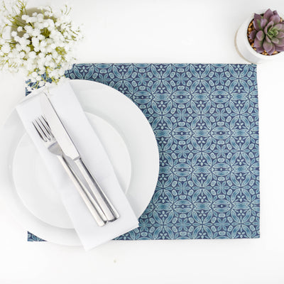 'Liberty Print' Fabric Placemat, denim blue