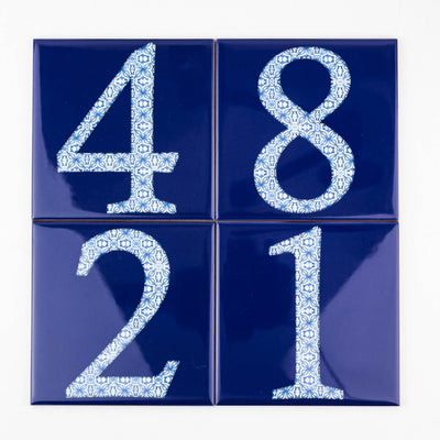 Ceramic Numerals  - Decorative Tile Numbers - DoodlePippin