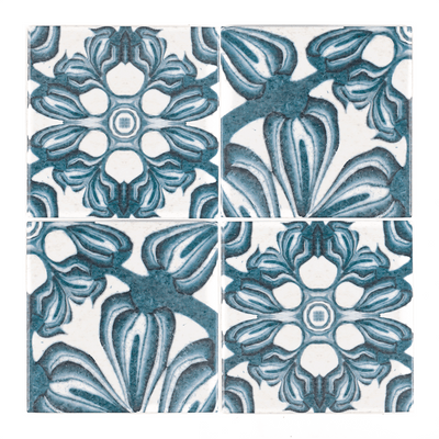 Hedera Tiles - Mixed - Fired Ink Version