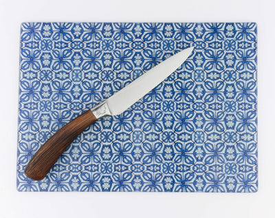 Blue Turkish Flower Worktop Protector - DoodlePippin