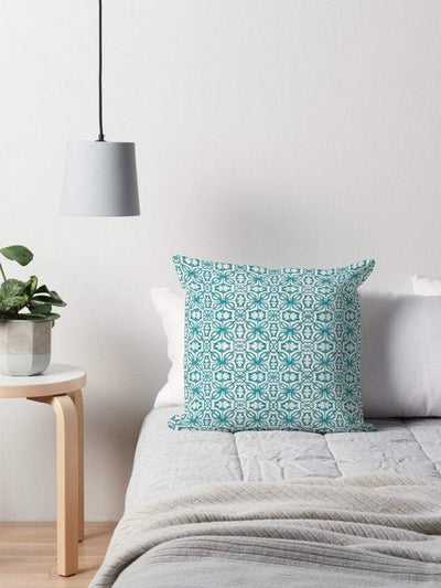 Turquoise throw cushion - Cover only - DoodlePippin