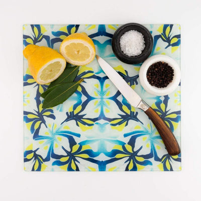 Navy blue and Zingy Yellow Trivet