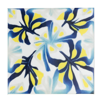Blue Yellow Modernist Abstract tiles